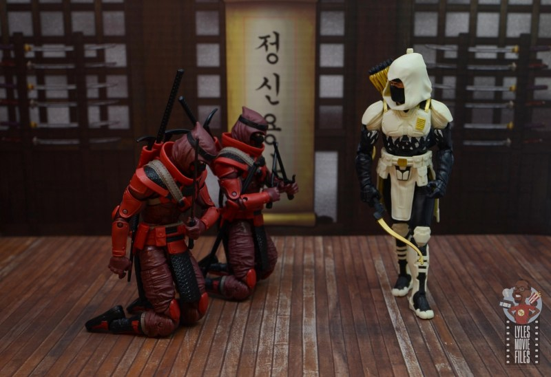 gi joe classified series red ninja figure review - bowing before storm shadow