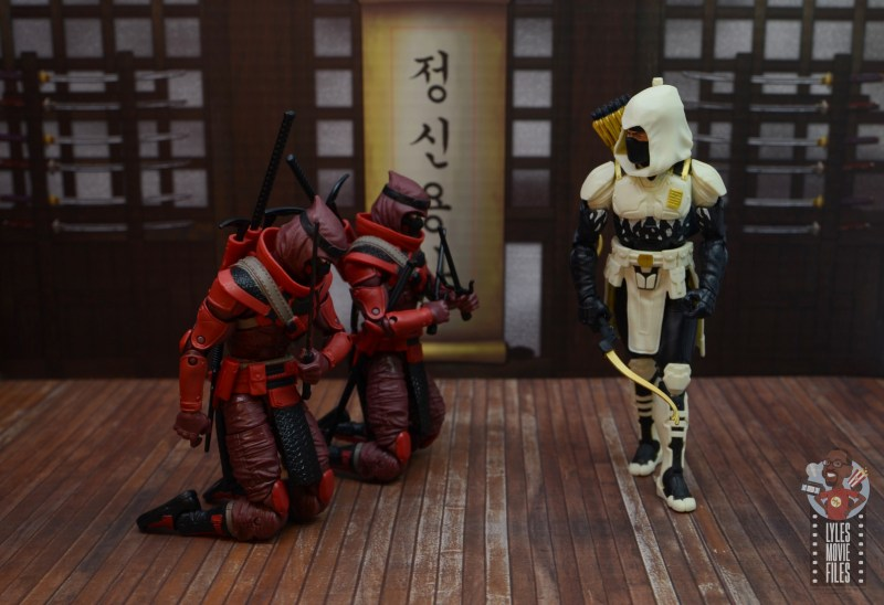 gi joe classified series red ninja figure review - bowing before storm shadow