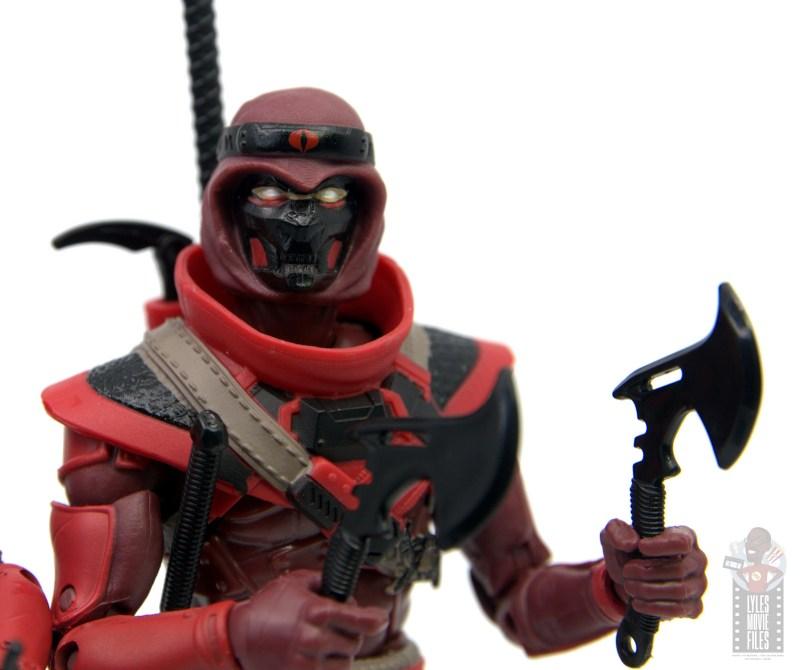 gi joe classified series red ninja figure review - close up with axe