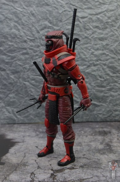 gi joe classified series red ninja figure review - left side