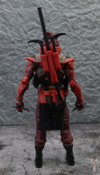 gi joe classified series red ninja figure review - rear with gear attached