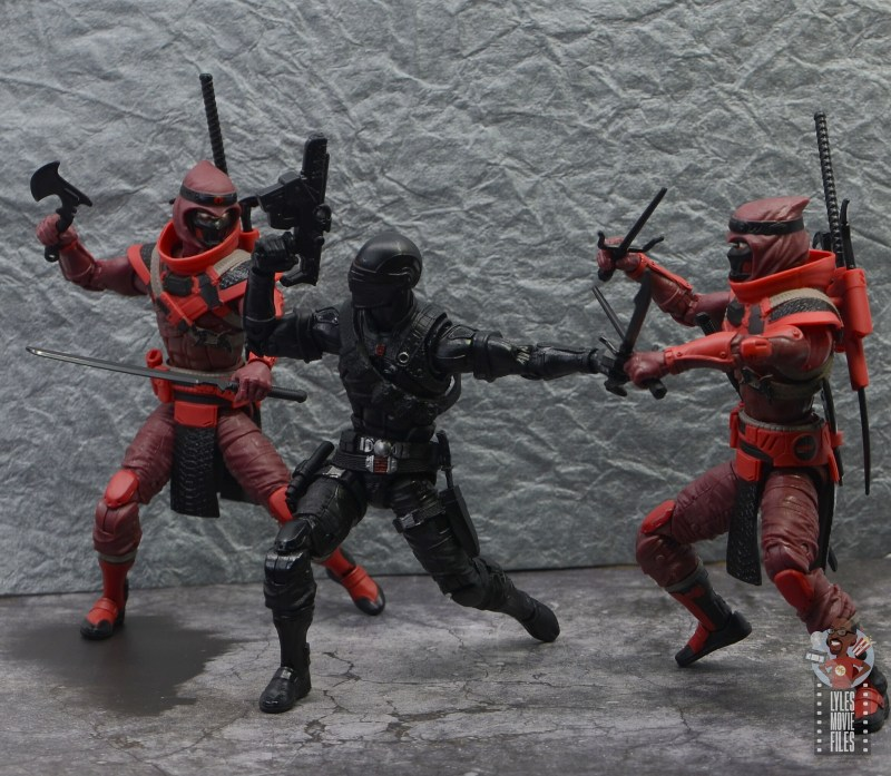 gi joe classified series red ninja figure review - vs snake eyes