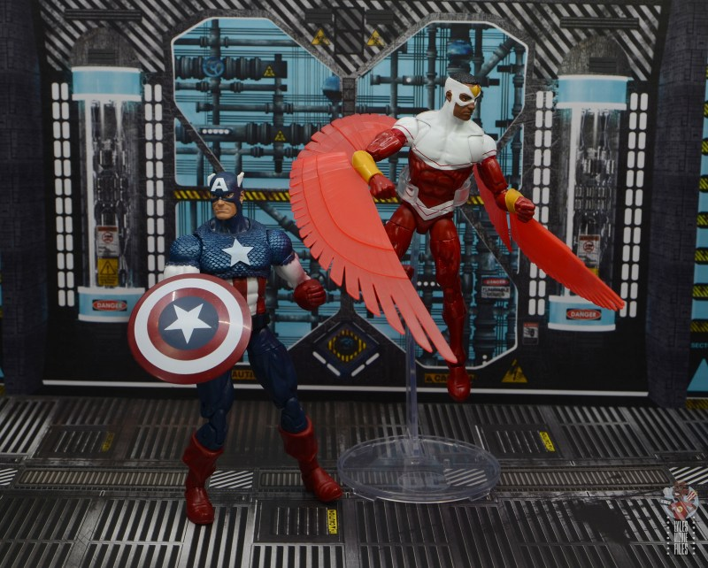 marvel legends falcon figure review -back to back with captain america