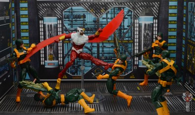 marvel legends falcon figure review - fighting hydra