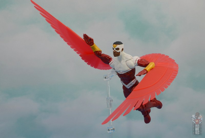 marvel legends falcon figure review - flying away