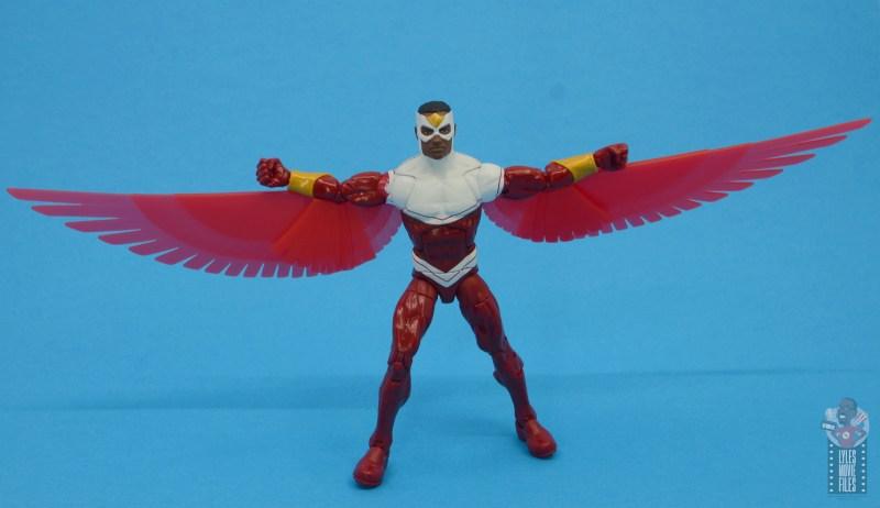 marvel legends falcon figure review - wings spread