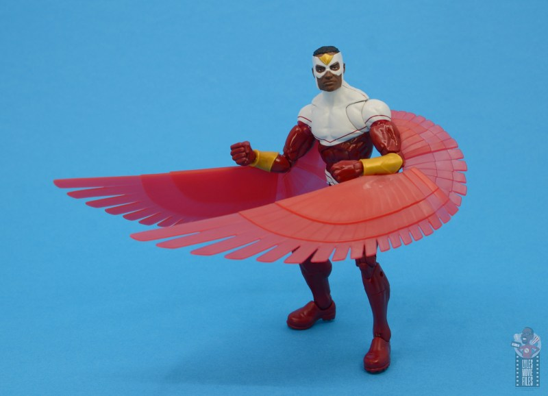 marvel legends falcon figure review - wings up