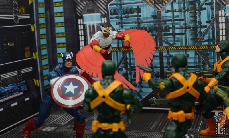 marvel legends falcon figure review - with captain america vs hydra