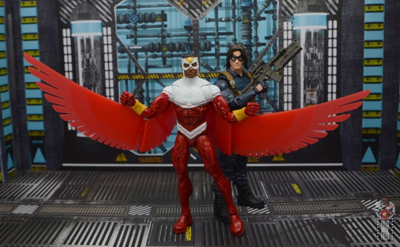 marvel legends falcon figure review - with the winter soldier