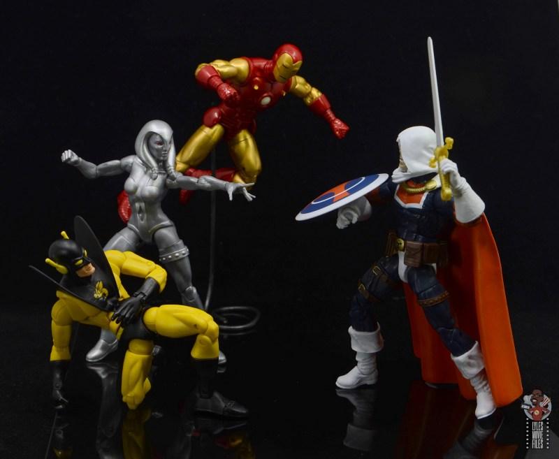 marvel legends jocasta figure review - with yellowcat and iron man vs taskmaster