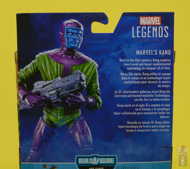 marvel legends kang figure review - package bio