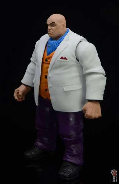 marvel legends retro kingpin figure review -left side