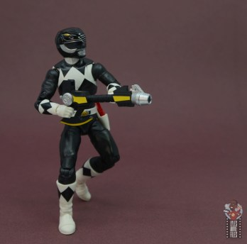 power rangers lightning collection black ranger figure review - aiming blaster