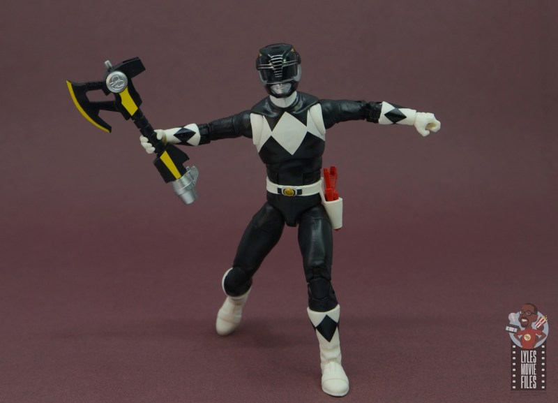 power rangers lightning collection black ranger figure review - axe drawn