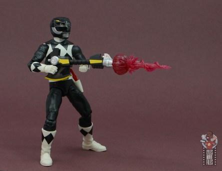 power rangers lightning collection black ranger figure review - firing blaster