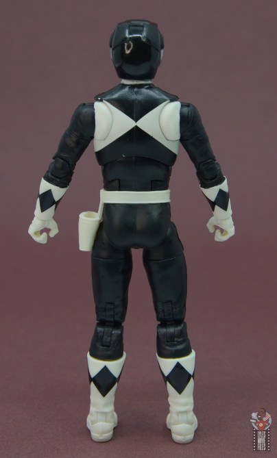 power rangers lightning collection black ranger figure review - rear