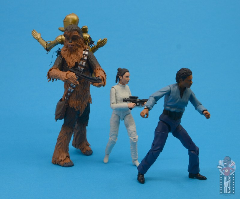 star wars the black series chewbacca and c-3p0 figure set review - racing out of cloud city