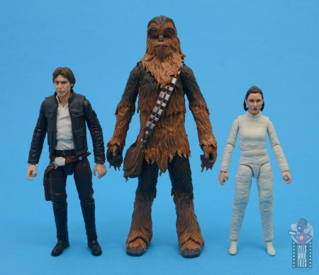 star wars the black series chewbacca and c-3p0 figure set review - scale with bespin han and leia