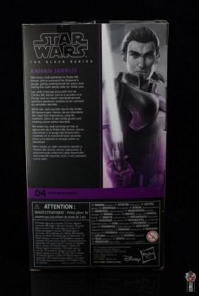 star wars the black series kanan jarrus figure review - package rear
