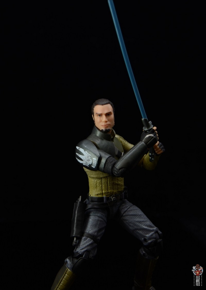 star wars the black series kanan jarrus figure review - pivoting with lightsaber