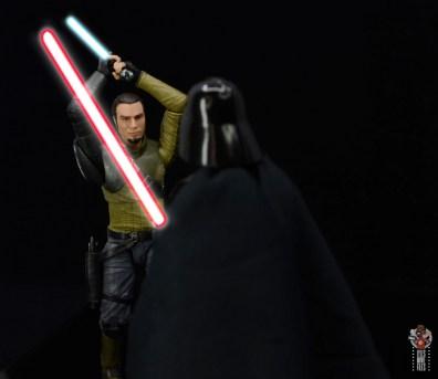 star wars the black series kanan jarrus figure review - vs darth vader sabers