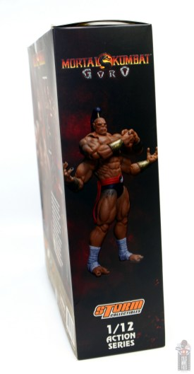 storm collectibles mortal kombat goro figure review - package right side