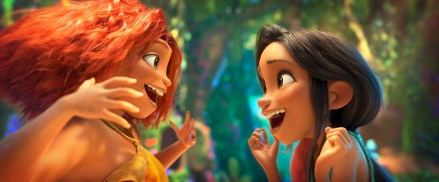 the croods a new age review - eep and dawn