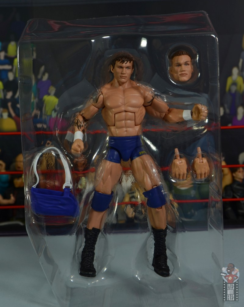 wwe decade of domination randy orton figure review - accessories in tray