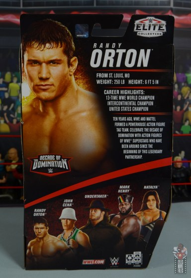 wwe decade of domination randy orton figure review - package rear