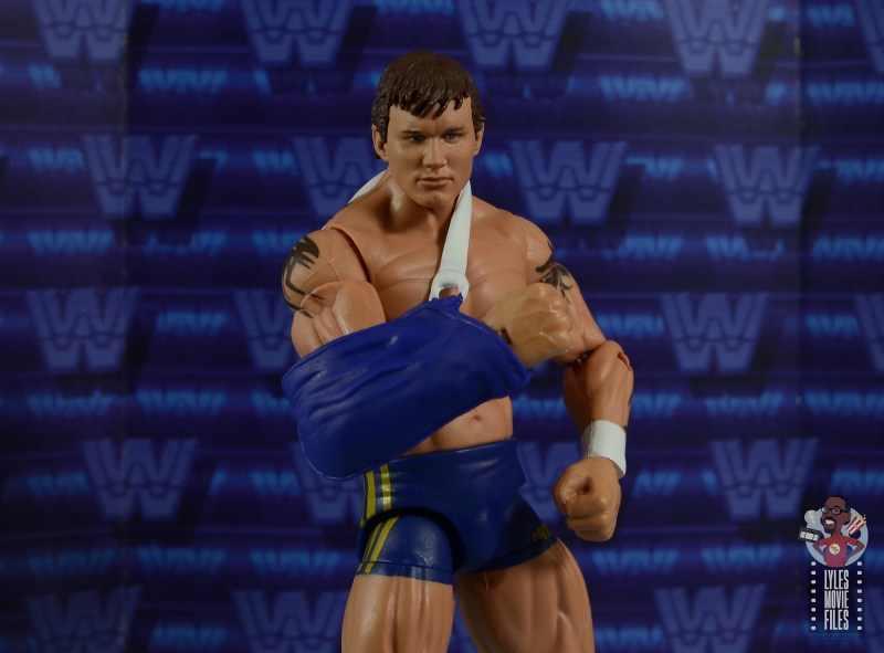 wwe decade of domination randy orton figure review - wearing sling for rnn update