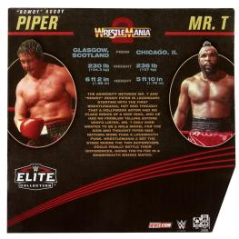 wwe elite collection two packs - roddy piper vs mr t -package rear