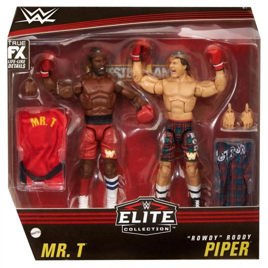 wwe elite collection two packs - roddy piper vs mr t - packaging