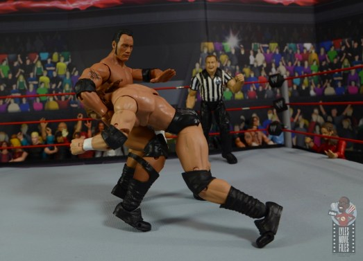 wwe ultimate edition the rock figure review - float over ddt to triple h