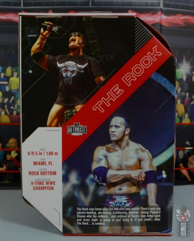 wwe ultimate edition the rock figure review - package rear