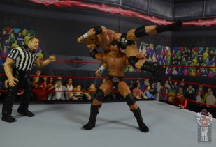 wwe ultimate edition the rock figure review - samoan drop to triple h