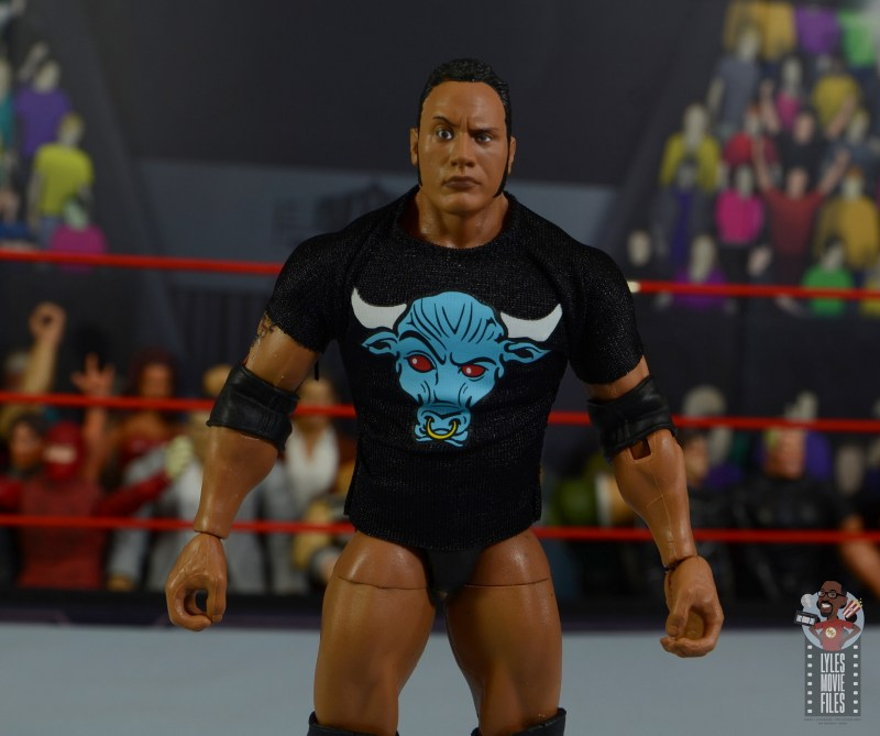 wwe ultimate edition the rock figure review - t-shirt detail
