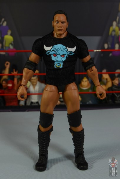 wwe ultimate edition the rock figure review - t-shirt front