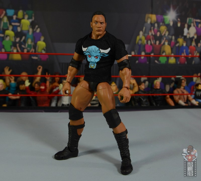 wwe ultimate edition the rock figure review - wide stance