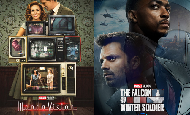 wandavision and the falcon and the winter soldier posters