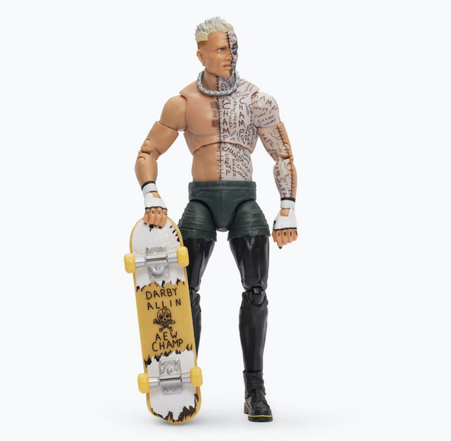aew unrivaled 3 - darby allen chase with skateboard
