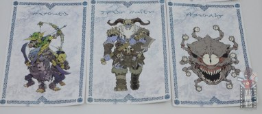 dungeons and dragons drizzt and guenhwyvar figure review - cards 1