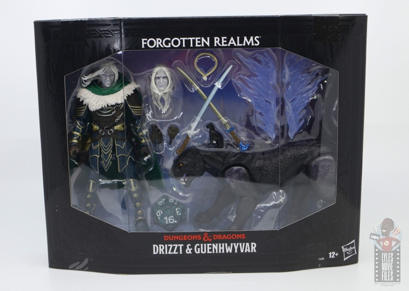 dungeons and dragons drizzt and guenhwyvar figure review - outer tray