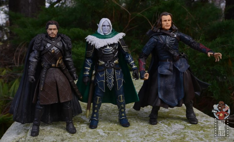 dungeons and dragons drizzt and guenhwyvar figure review - scale with robb stark and ranger