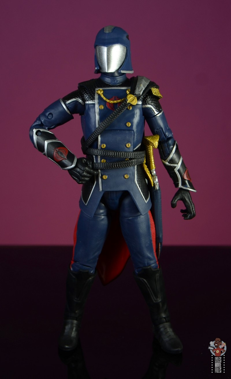 gi joe classified series cobra commander figure review - hand on hip