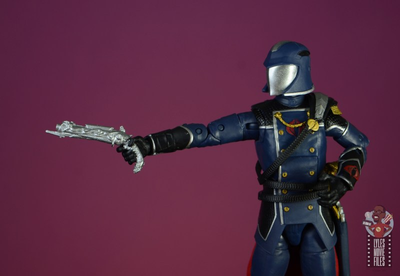 gi joe classified series cobra commander figure review - pistol detail