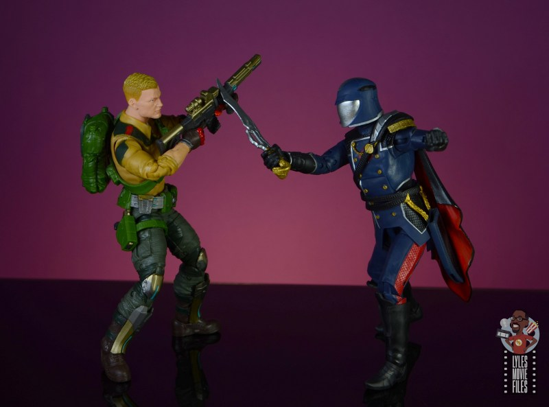 gi joe classified series cobra commander figure review - vs duke
