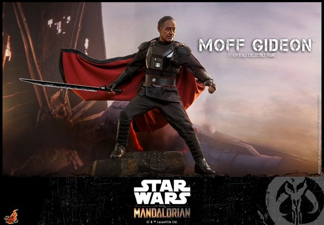 hot toys the mandalorian moff gideon - clutching dark saber