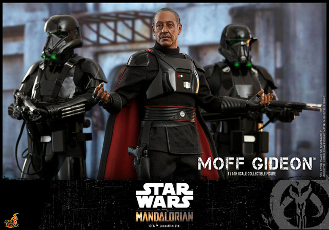 hot toys the mandalorian moff gideon -with dark troopers