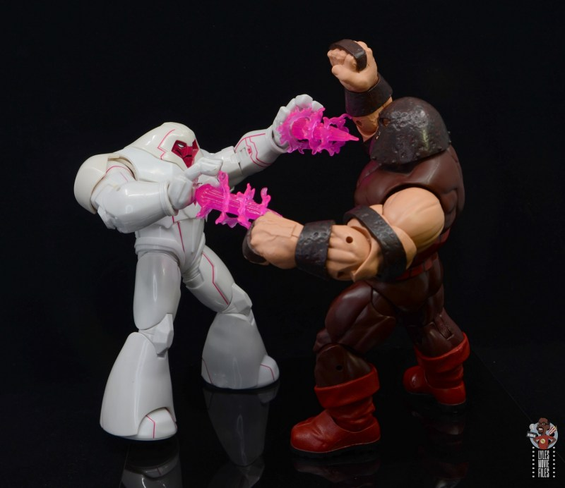marvel legends nimrod, fantomex and psylocke figure review - nimrod vs juggernaut