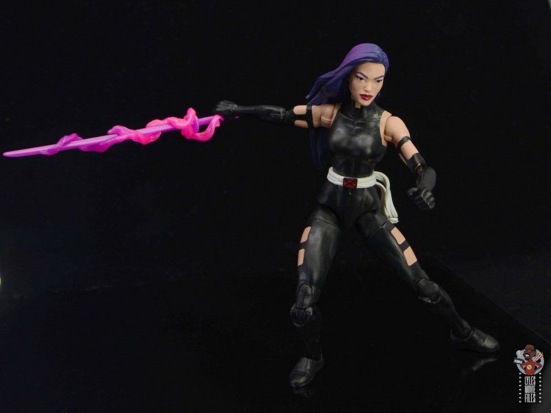 marvel legends nimrod, fantomex and psylocke figure review - psylockeslashing sword